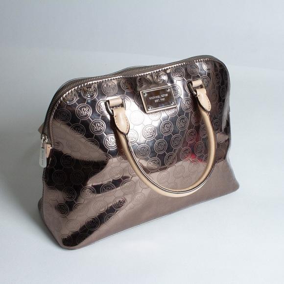 Michael Kors Handbags - Michael Kors Emmy Mirror Metallic Satchel Bag